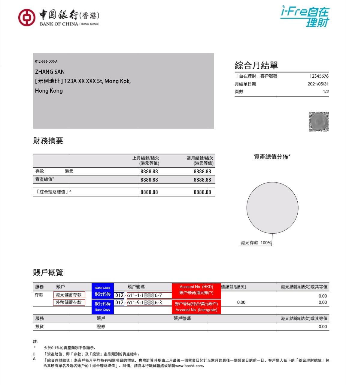 银行代码及账户号码说明 – 存入资金 – 富途证券插图1